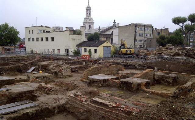 CampbellReith.  Stockwell Street.  Archaeological inspection stage