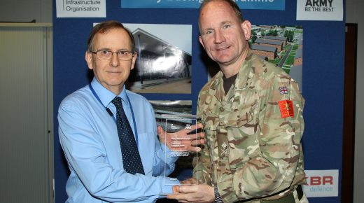 CampbellReith receives long term service award from the MoD