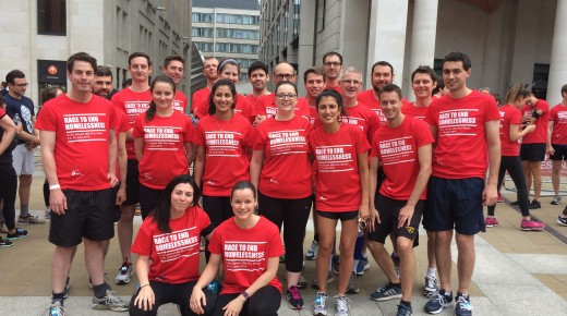 Crisis Square Mile Run, fundraising for a good cause
