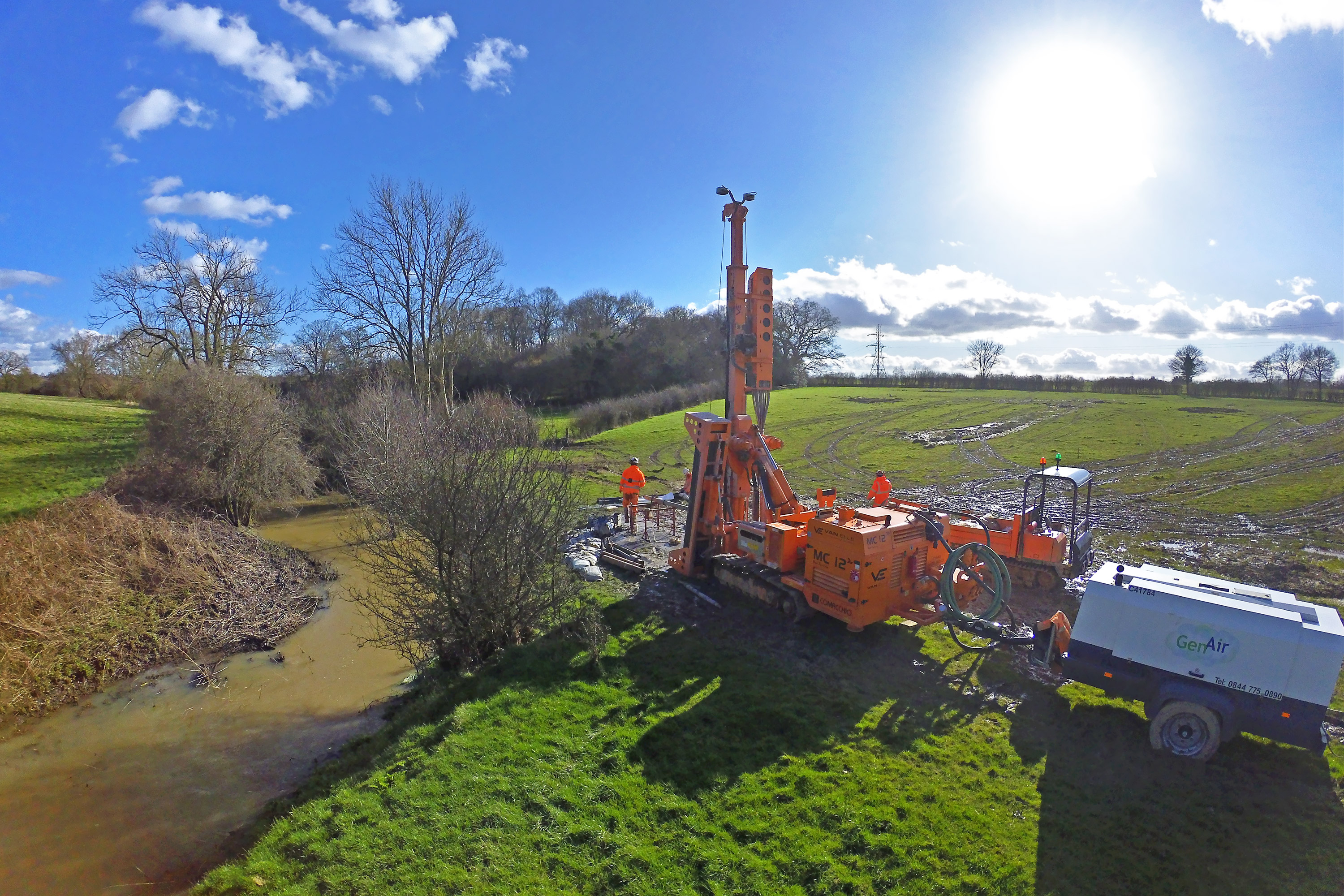 Geotechnical strategy captured through rain and shine!